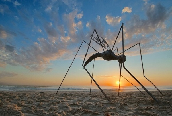 Strange beach sculpture