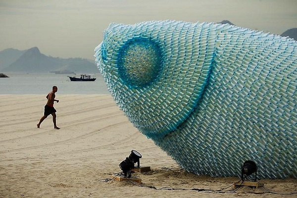 Strange beach sculptures