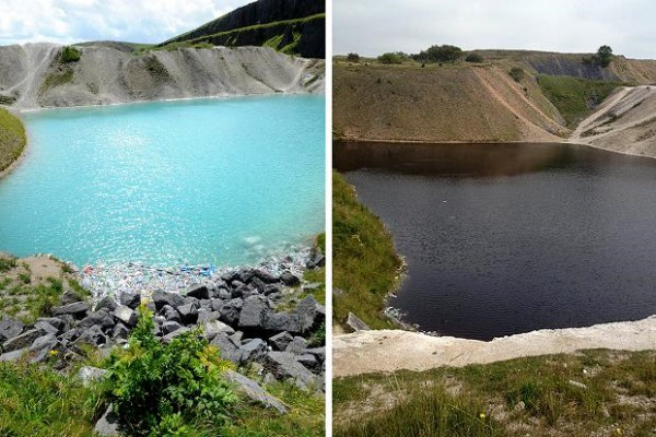 Great turquoise lake turns black