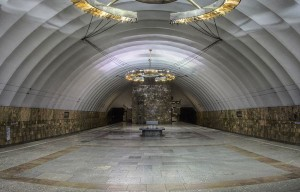 An underground palace is the deeper subway in the world