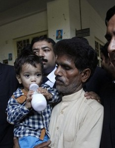 A nine-month-old infant accused of assulting police officers!