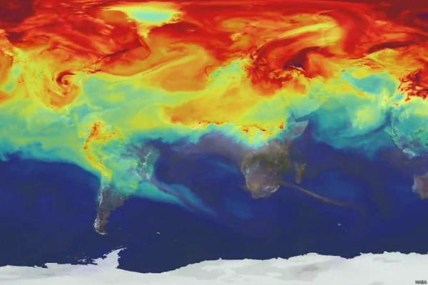 This is how pollution spreads across the world in a year