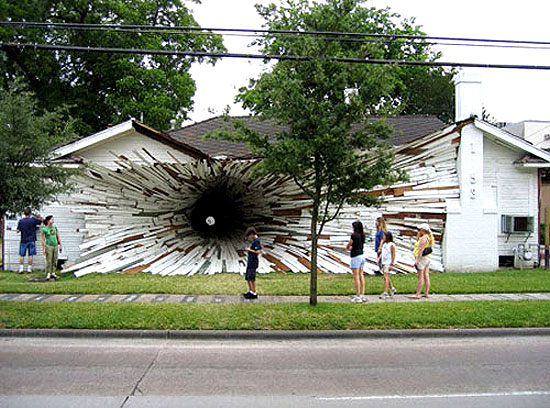 Inversion House Tunnel Art