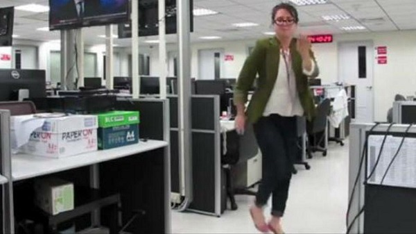 She quit her job dancing and filming a video for her boss