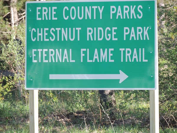 Eternal Flame, trail sign