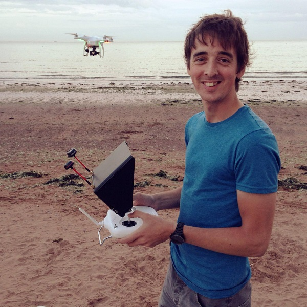 Danny Cooke with his drone
