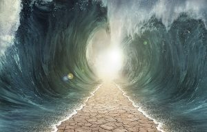 The physical explanation of Moses' parting waters